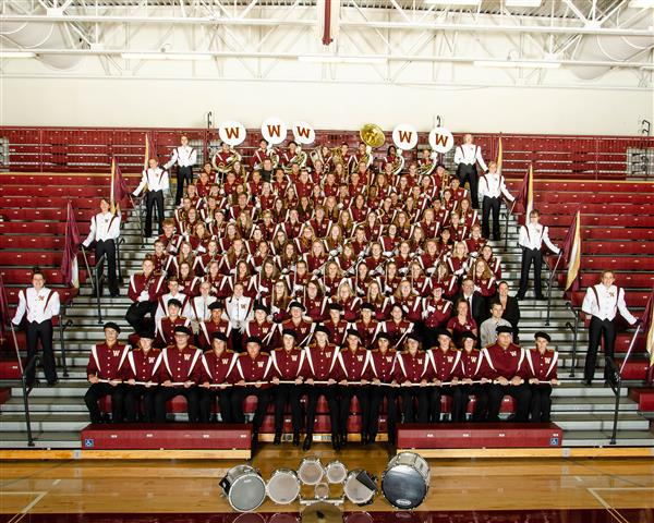 This is a picture of the 2019-20 Western High Marching Band