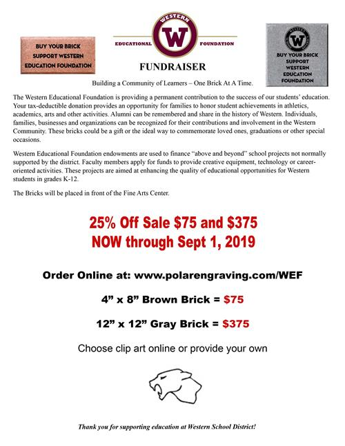 WEF 25% Off Brick Sale