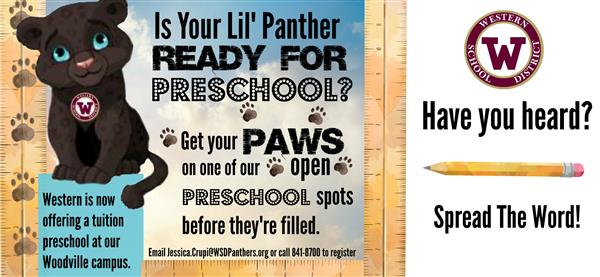 NEW Little Panthers Preschool
